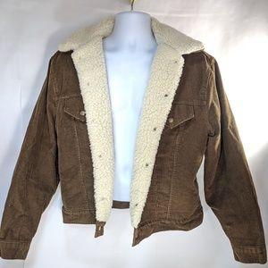Levi's Brown Corduroy Sherpa Lined Trucker Jacket